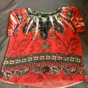 Lane Byrant Woman's Sheer Shirt Blouse Sz 14 /16